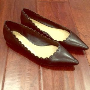 Coach Black Leather Flats, 7